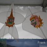 Papierdrachen im Thai Zelt